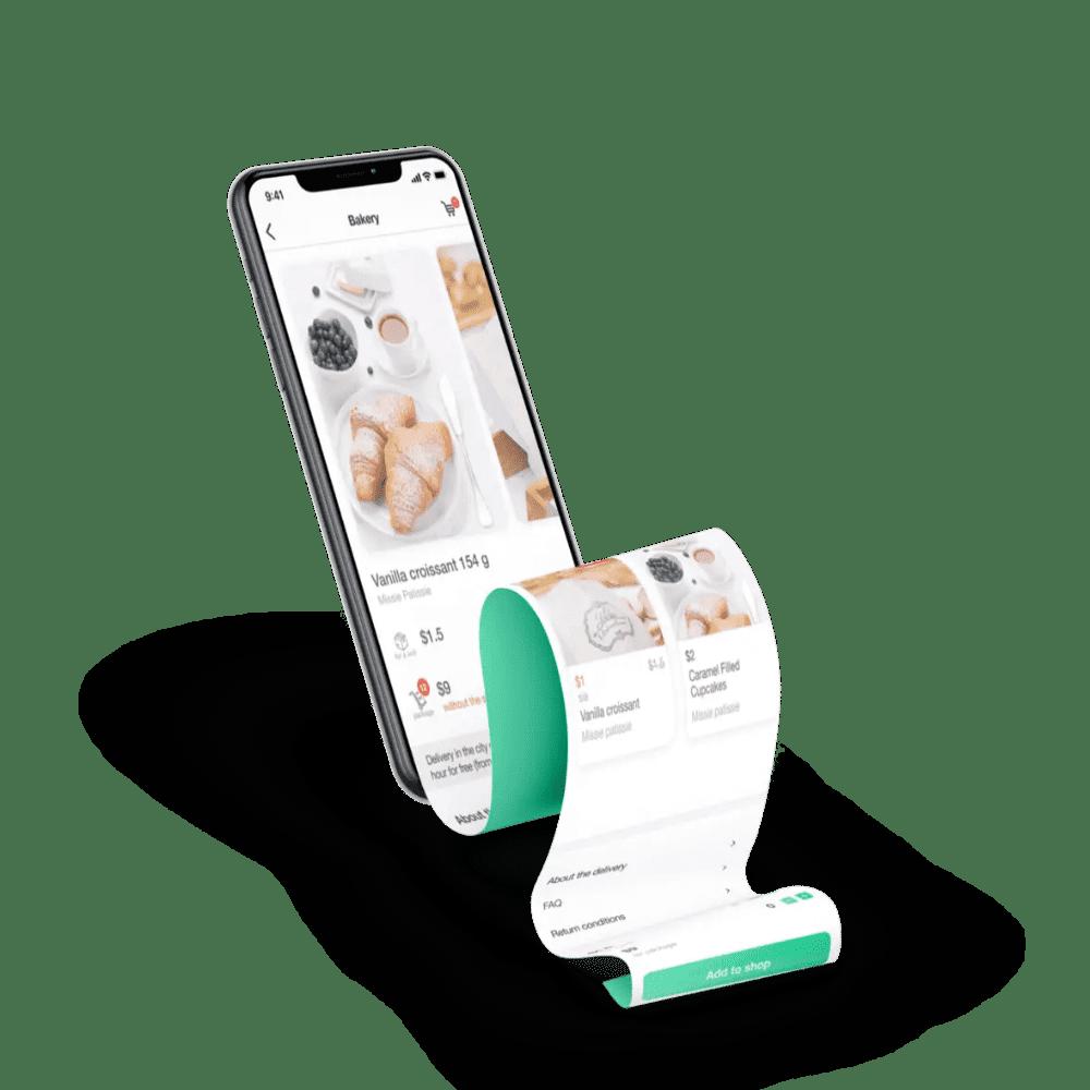 Разработка мобильного приложения iOS и Android для сервиса доставки еды, товаров и продуктов